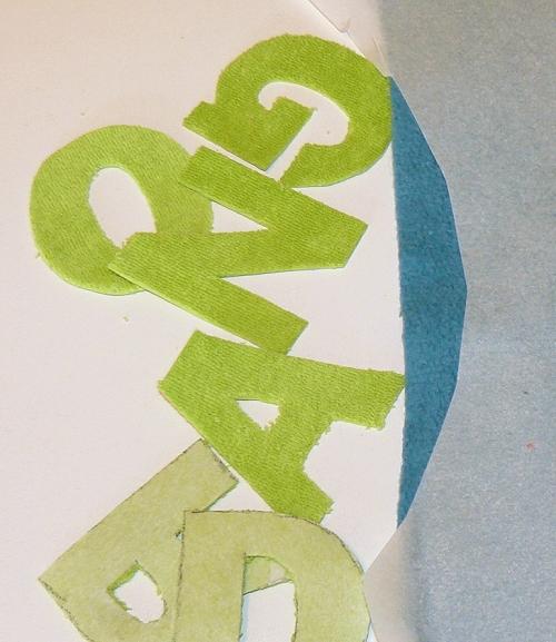 Buchstaben nähen