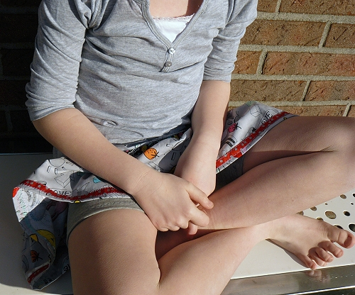 Hosenrock mit Leggings selber genäht