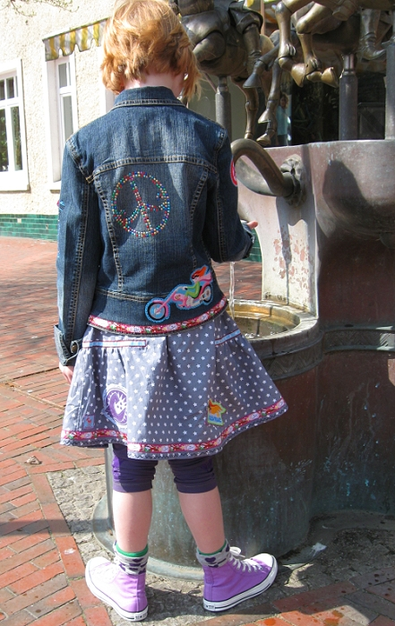 Jeansjacke verzieren