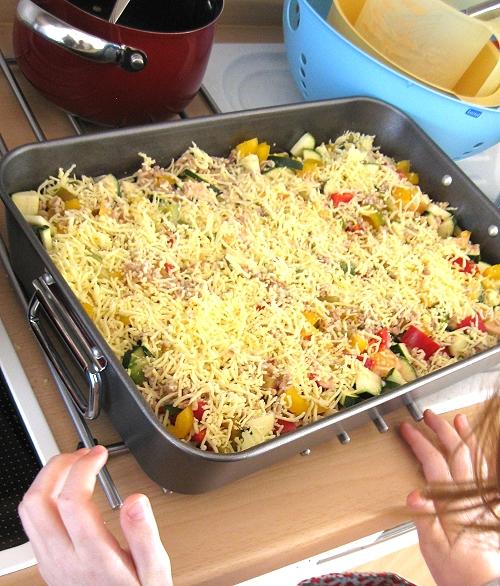 Gemüseküche mit Kindern