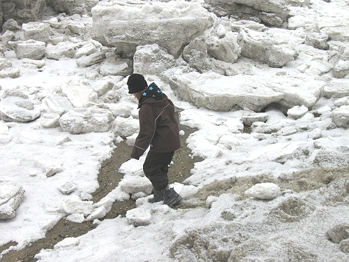 Eisschollen in der Nordsee