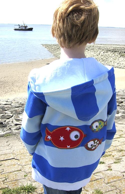 Shirt pimpen, Stickereien, Applikationen, Meer, Fische, farbenmix, paulapü