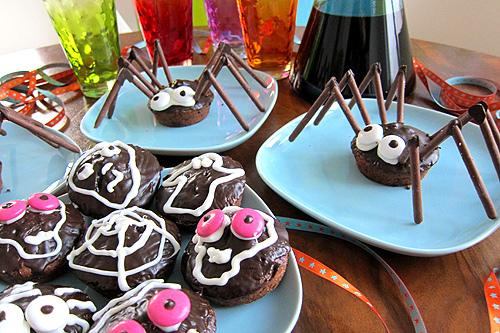 Spinnen, Muffins, Halloween