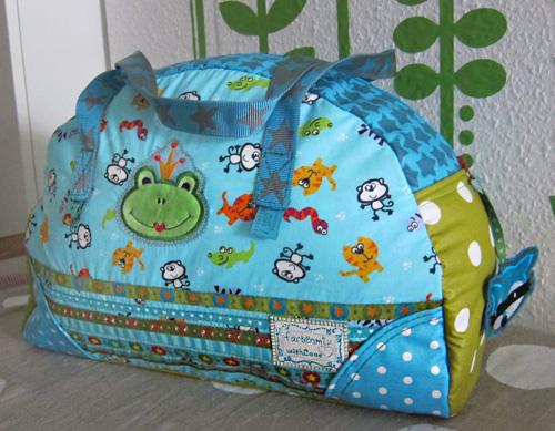 Kinderreisetasche nähen, Schnittmuster, Anleitung, farbenmix
