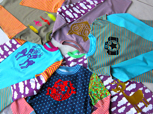 Mixshirts, Jersey mixen, Schnittmuster farbenmix