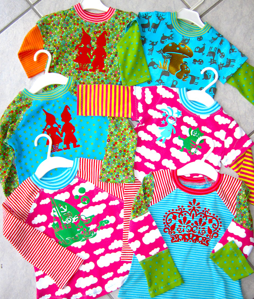 Shirts nähen, Schnittmuster farbenmix, Stoffmix