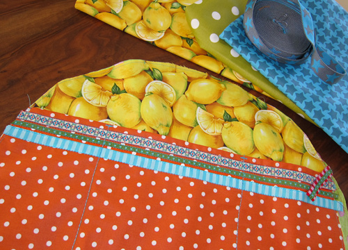 Zitronen, Obststoff, Tasche nähen, farbenmix.de