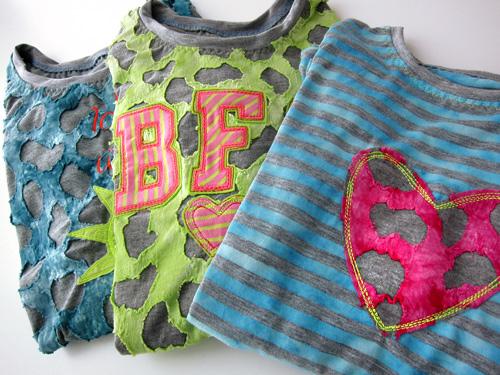 Schnittmuster Teeny Shirt nähen, farbenmix.de, neon